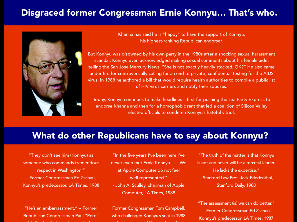 CONGRESS | 17TH DISTRICT | Former South Bay Rep. Ernie Konnyu Is Pissed.  This Week, Rep. Mike Hondau0027s Campaign Attempted To Link Konnyu, ...