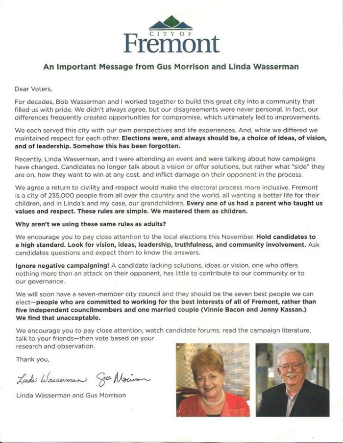 Bonaccorsi campaign letter
